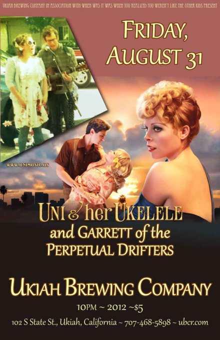 uni and her ukelele with garrett gray